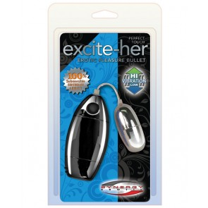 Perfect Touch Excite-Her Silver Bullet Waterproof - Luster Black